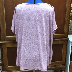 a.n.a Tops - Mauve Clear Sequined Top